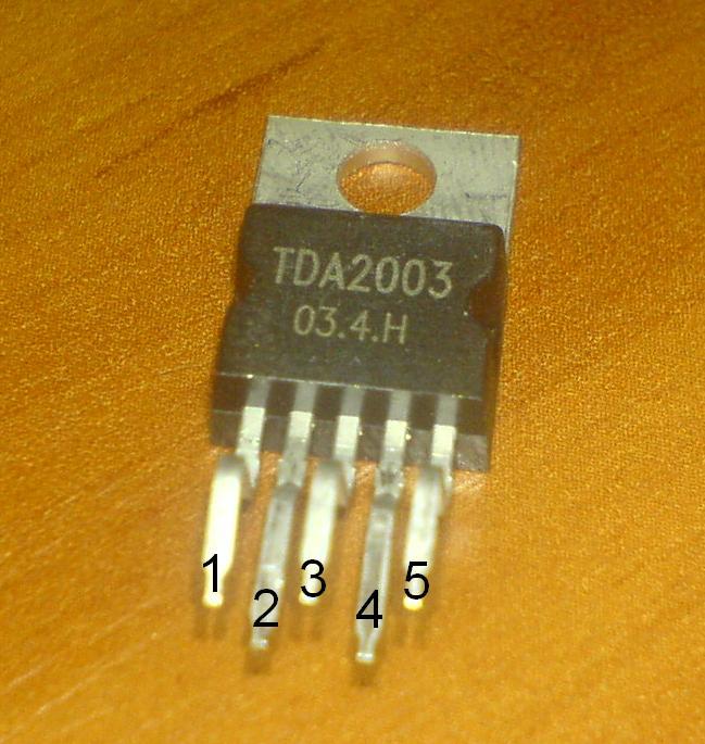 10W на TDA2003 (моно)
