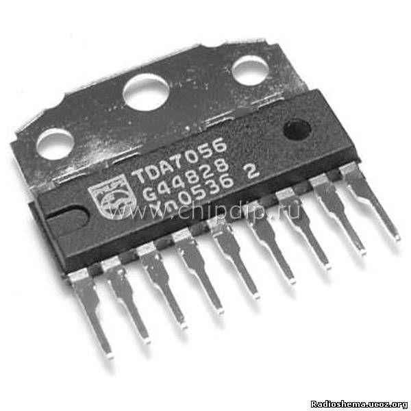 Усилитель звука на микросхеме tda7056 и индикатор уровня сигнала на микросхеме an6884
