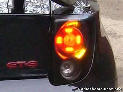 схема фонарика на велосипед,