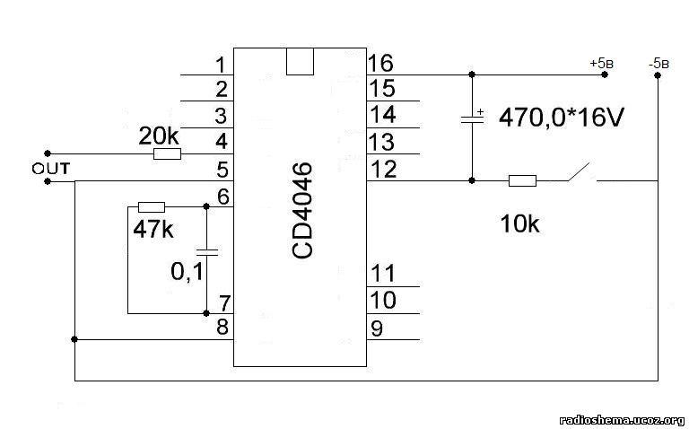 Сирена на cd4046 - схемы для