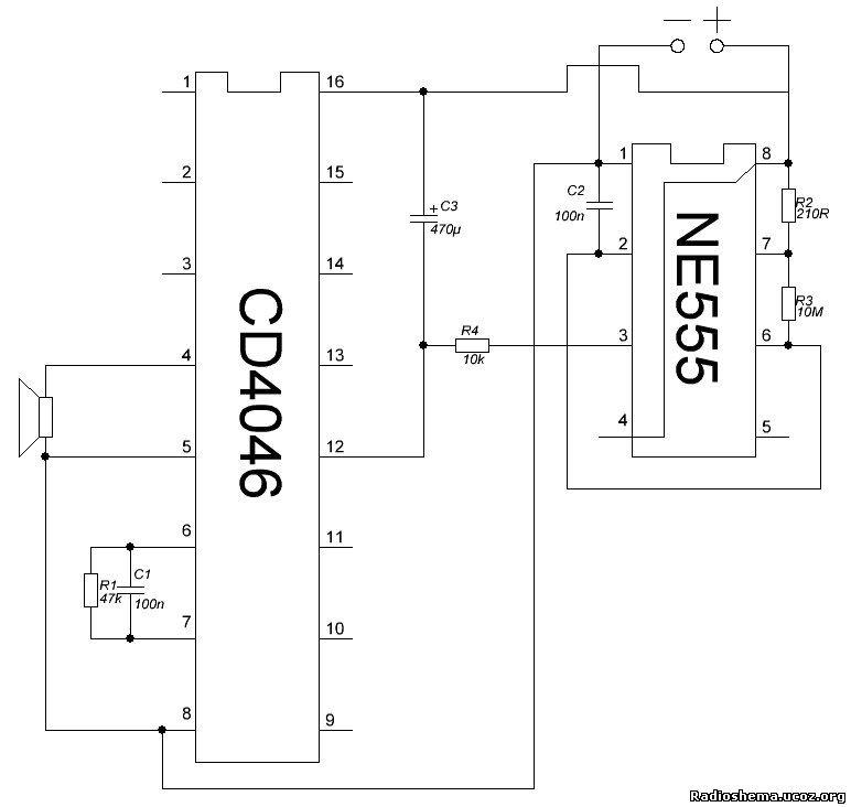 Т.к у микросхемы CD4046