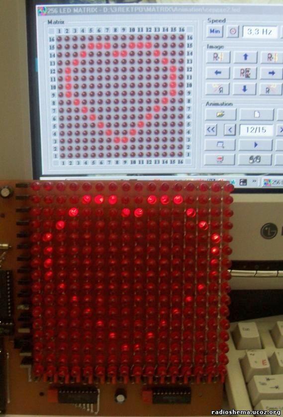 Схема светодиодной матрицы 16х16