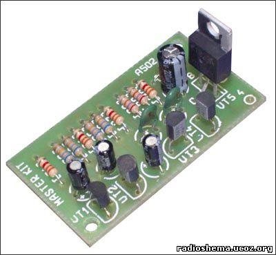 ...первый мультивибратор (VT1, VT2 BC547) управляет частотой работы...